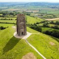 Glastonbury Tor and tower from the air