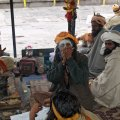 Sadhus camping and smoking ganja